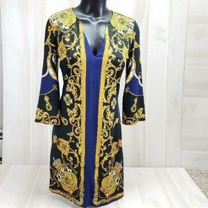 JB by Julie Brown Baroque Sheath Dress M ~ DD20